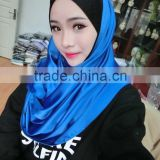 NL162 new style plain south korean silk long scarf, many colors
