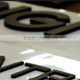 Mini word Crystal LED signage small letter door sign fashionable 3D Full Lightingfor indoor