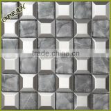 5 beveled metal mosaic kitchen tile for wall