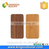 2016 new products outdoor Gift Premium 4000mah rohs wood power bank for apple mobile phone