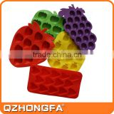 tropical fruit ice mold, custom TPR silicon ice cube tray                                                                                                         Supplier's Choice