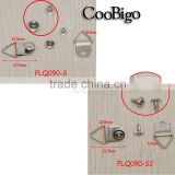 Small Triangle D-Ring With Double Rivet For Craft Bag Shoes Work/ Army Hiking Boots Lace #FLQ090-S/S2