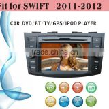touch screen car dvd player fit for Suzuki Swift 2011 - 2012 with radio bluetooth gps tv