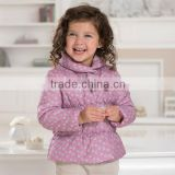 DB1657 davebella 2014 winter new arrival flour printed baby coat babi outwear baby clothes winter outwear