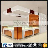 Best trade assurance glass MDF material lighting jewelry shopping mall showcase kiosk                                                                         Quality Choice
