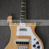Weifang Rebon 4 string riken electric bass guitar in wood colour