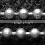 Iron Ball Bead Chains, Fashion Jewelry Chains, In Silver Color; Bead:1.5mm(CHB001Y-S)