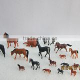 model figure, model animals, scale animals, plastic building resin farm horse for 1/150