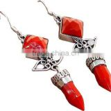 Make A Wish !! Red Dyed Ruby 925 Sterling Silver Earring Bezel Setting, Designer Pieces Silver Jewelry, Sterling Earrings