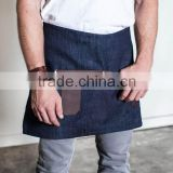 Custom high quality waist apron denim with leather                                                                         Quality Choice