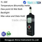 TL-500 portable temperature and humidity meter/environmental test/temperature and humidity meter with factory lowest price