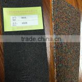 Factory direct sale: recyclable soundproofing rubber roll of rubber granuels and rubber foam, fire-proof, moisture proof