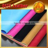 flocking pu leather PU synthetic leather for making shoes from China wholesale faux leather fabric