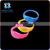 Hot Selling Flashing Print LED Bracelet With Logo For Brand Advertising,silicon led bracelet