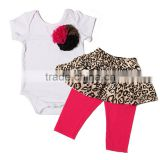 2016 Latest design baby clothing girl set with short slevee cotton frock suit design image