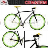 China Custom steel frame road bike colorful fixed gear bicycle for sale