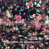 china jiangsu direct factory dark burn out velvet flowers printed for lady garment and kerchief