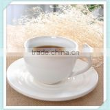 200ml ceramic coffee mug with saucer and bird in handle