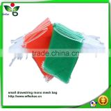 Durable HDPE monofilament yarn vegetable fruit mesh bag wholesale