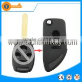 Auto key case shell cover fob blank key with logo without key pad fip key for Honda city accord crv