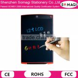 "6 Colors Digital Drawing and Graphics Tablets 12"" LCD Writing Tablet Electronic Writing Board E-Writer for Kids"