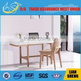 Popular white high gloss home office desk with solid wood legs/simple and easy home office desk