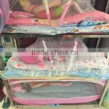 Factory OEM outdoor portable infant children baby cot bag, travel carry foldable baby cribs for infant