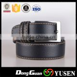 High quality embossed logo custom fashion mens genuine leather belt