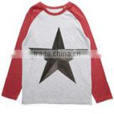 custom logo imprinted boys red basics red raglan t shirt boys33