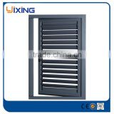 Doors and windows in aluminium, aluminium bronze color window, aluminium glass louvers window