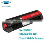 Handheld wand scanner with own backlight CIS Sensor type support 32GB SD card USB and batteries power
