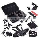 13 in 1 Action Camera Accessories Storage Case Chest Strap Holder Monopod Accessories Set Kit For Gopros SJCAM