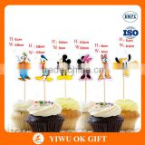 Wholesale Cartoon Mickey Minnie mouse Cupcake Paper Topper Pick Wedding Decoration Girl Kids Birthday Party Decoration