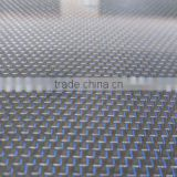 210gsm Glitter carbon fiber fabric blue metallic fabric