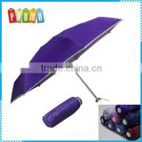 Wholesale ultra light aluminum alloy mini 5 folding umbrella, portable 5 fold travel umbrella
