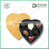 heart shape ceramic chocolate fondue set