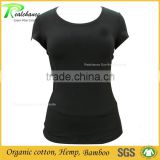 Clothing best supplier of custom sports wear bamboo yoga sports t shirt wholesale with mesh sexy back