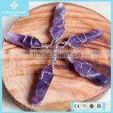 Natural Crystal Agate Bulk Amethyst Pendant Necklace Jewelry Wholesale