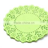 "NEW Party Packaging 4.5"" Lime Green Round Paper Doilies x 20 kids Birthday Party Supplies"