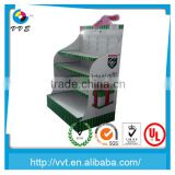 cardboard paper pallet floor display stand,corrugated cardboard pallet display for bottles