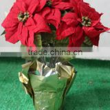 best sale Artificial poinsettia for Christmas decoration