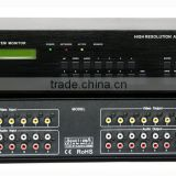 Synchronous Asynchronous Matrix Switching 8x8 Composite Video& Stereo Audio Matrix Switcher