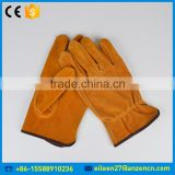 China Factory Cheap Price Motorcycle And Bicycle Driving Leather Glove With Cow Leather