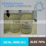Manufacturer SLES 70% ---Cosmetic Raw Materials,Detergent Raw Materials,Hair Care Chemicals
