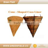 Cone shaped coco fiber basket china supplier