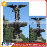 Large carved angel marble water fountain for garden decoration NTMF-018LI