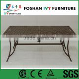 Garden outdoor table with umbrella hole modern aluminium dining table