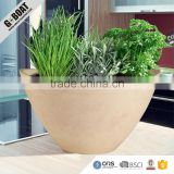 painted round coloful tabletop decorative seedling cheap plastic wood stone garden planter recycled sturdy strong GreenShip