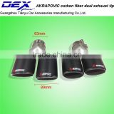 New style high quality factory price auto accessories Akrapovic tip carbon fiber exhaust tip