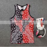 custom sublimation tank tops and running t shirt